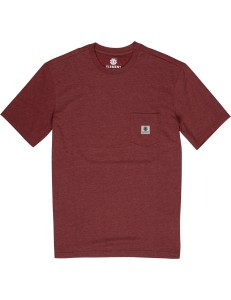 Camiseta Element Basic Pocket - Burdeos
