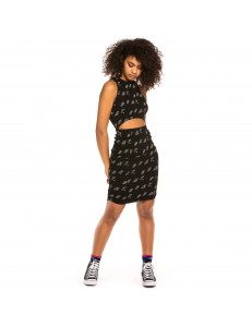 Grimey Skirt + Top Urmah Dojo All Over Print Girl - Black