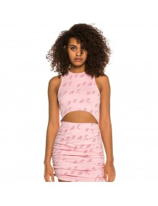 Top Grimey Chica Urmah Dojo All Over Print - Pink