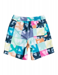 Bañador Niño Quiksilver Dye Check Volley - Multicolor