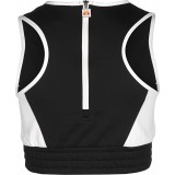 Ruth cropped vest - Black