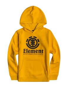 Sudadera Niño Element Vertical - Amarillo