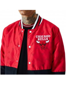 Chaqueta Bomber New Era Chicago Bulls - Rojo