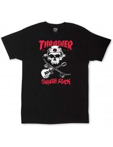 Camiseta Thrasher Skate Rock - Negro