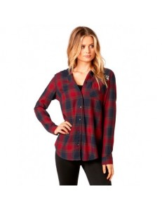 Camisa Fox Head Deny Flannel - Dark Red