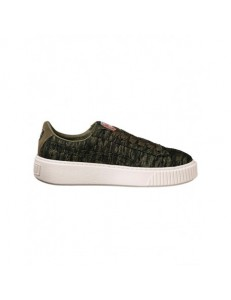 Zapatillas Puma Basket Platform Velvet Rope - Olive Night